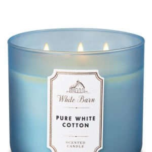 bbw 3-wick pure white cotton