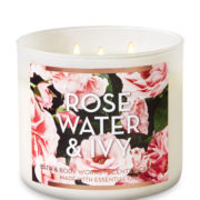 bbw 3-wick rose water & ivy